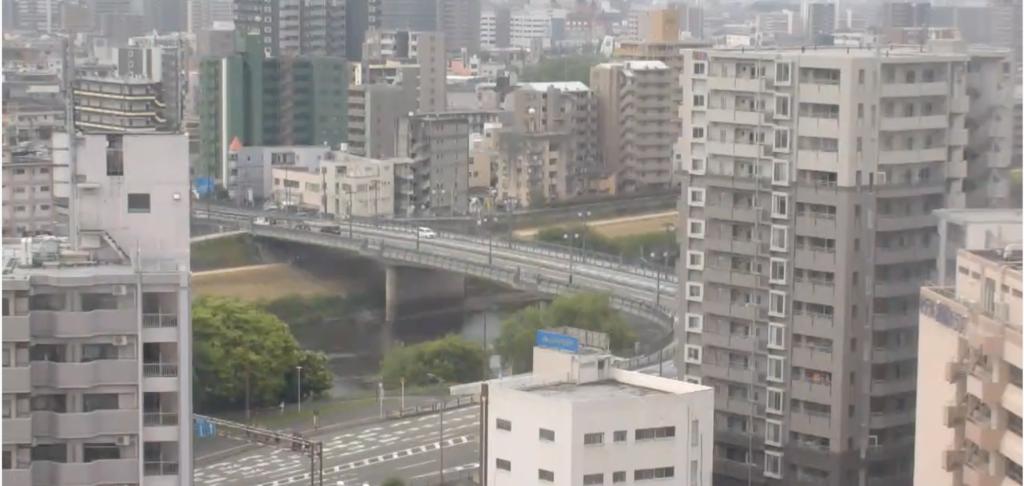 熊本市内と白川