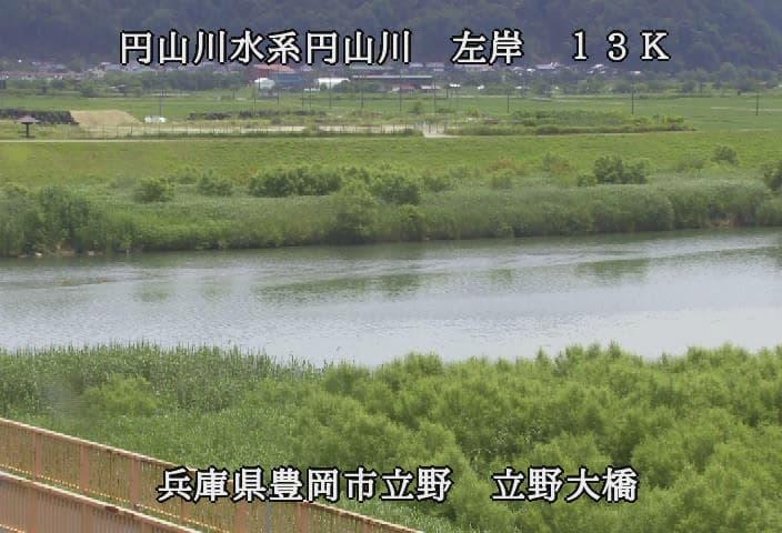 円山川の立野大橋