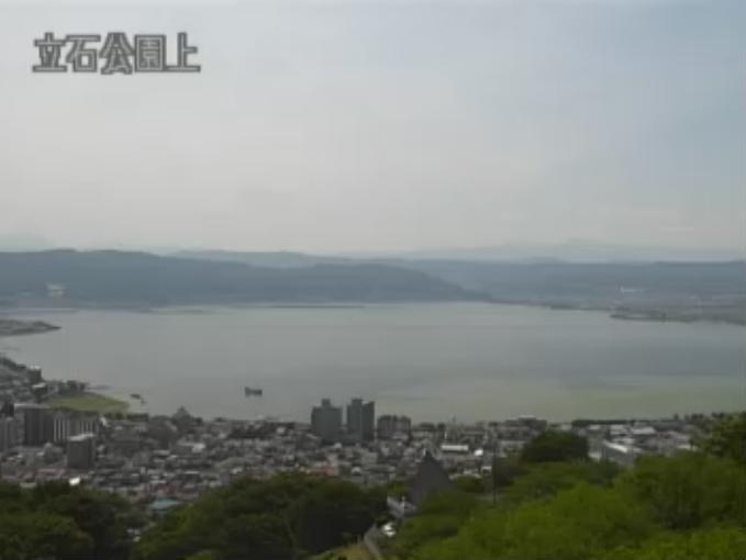 諏訪湖と赤岳