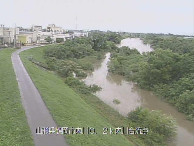 赤川と内川合流点