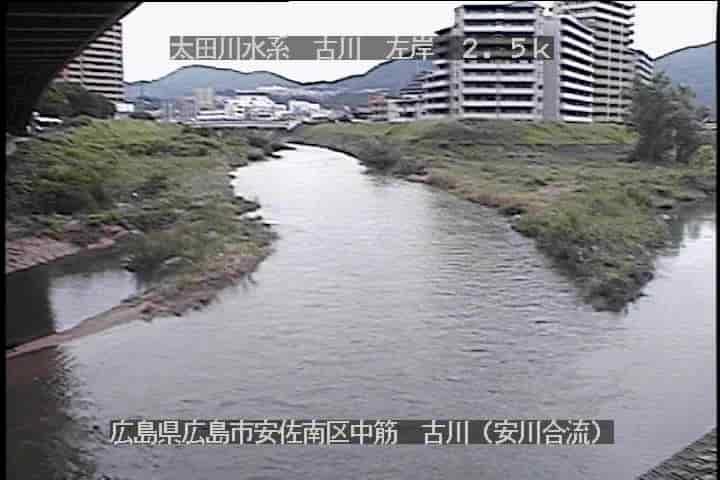古川と安川合流点