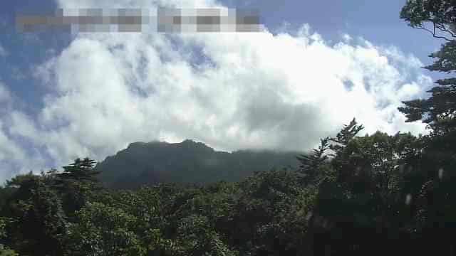 石鎚神社成就杜から見た石鎚山