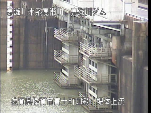 嘉瀬川ダム堤体上流