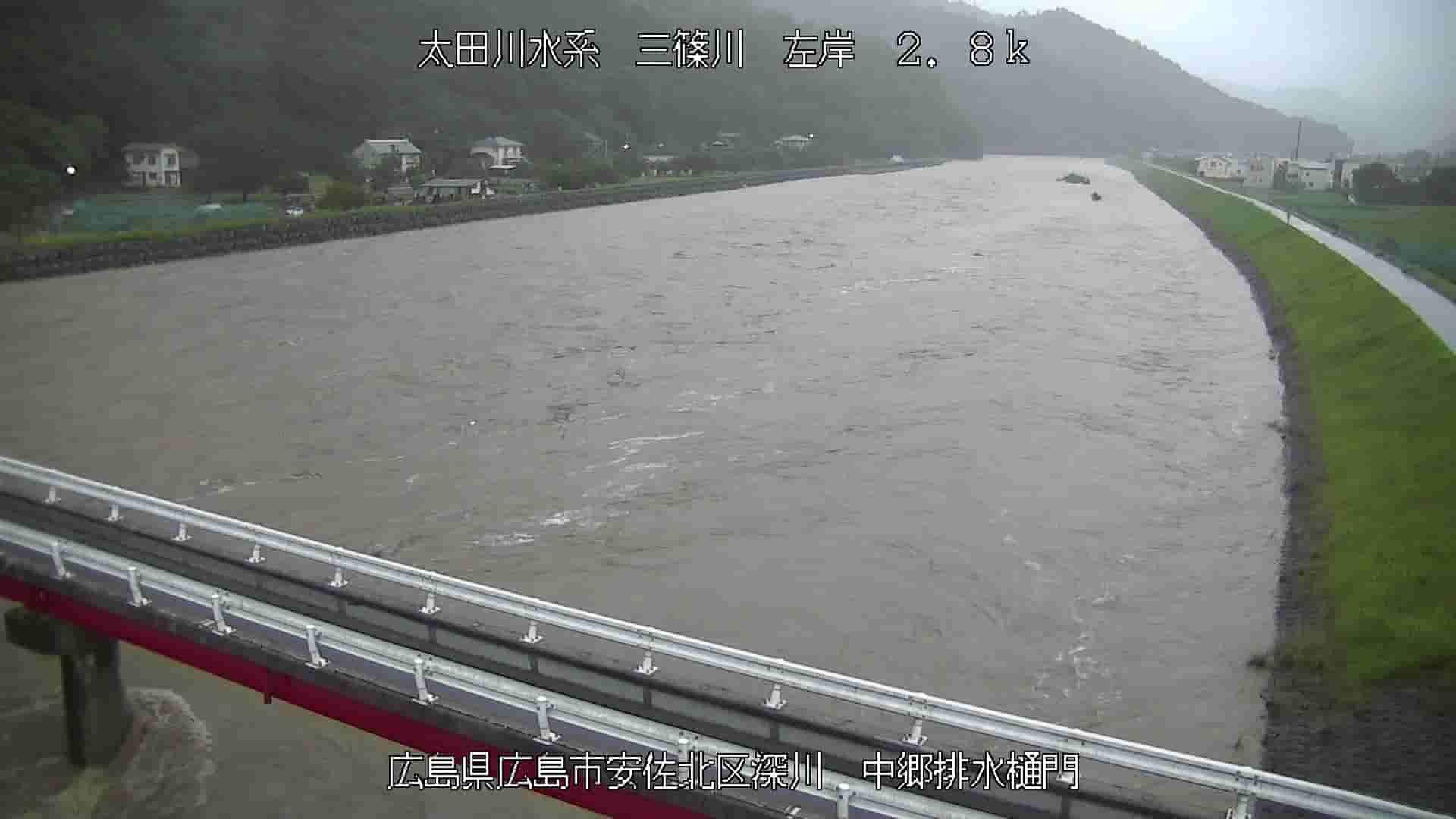 三篠川-中郷排水樋門付近