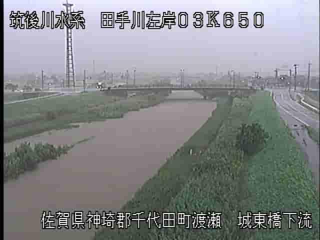 田手川城東橋下流