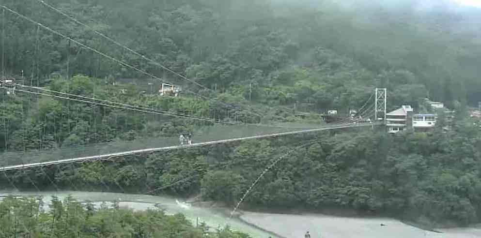 谷瀬の吊り橋-十津川村