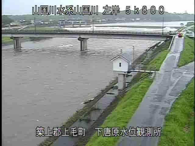 山国川-下唐原水位観測所