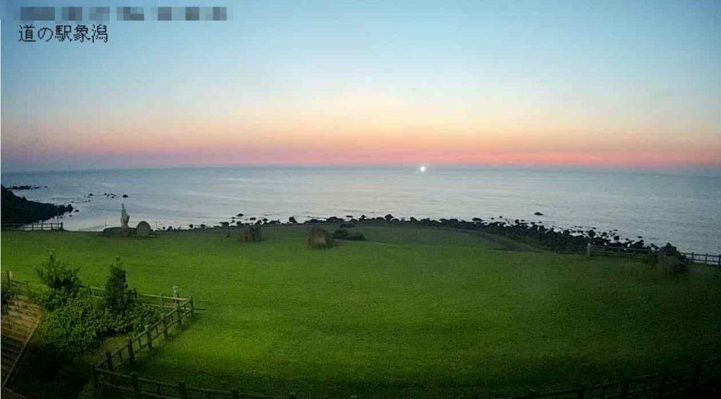 ねむの丘からの夕日