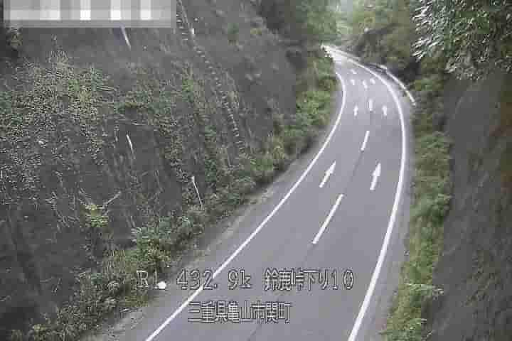 国道1号-鈴鹿峠下り-第3大滝橋