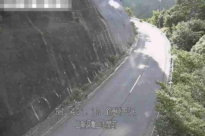 国道1号-鈴鹿峠下り-第6坂下橋付近