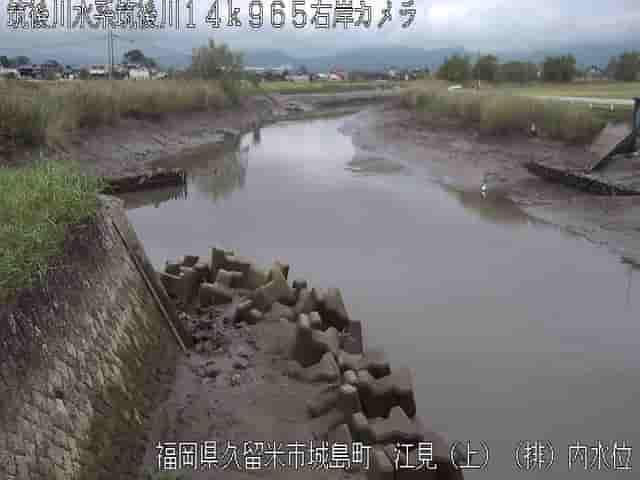 筑後川-江見上流排水機場内