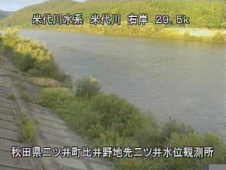 米代川-二ツ井水位観測所