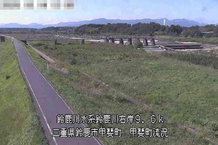 鈴鹿川-甲斐町流況