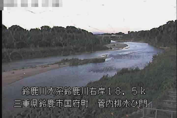 鈴鹿川-菅内排水ひ門
