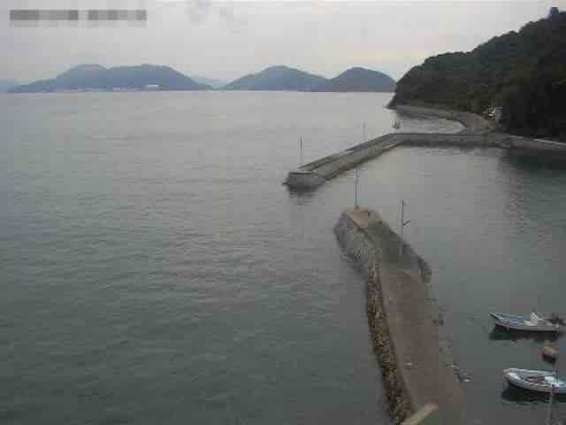 馬島公民館から見た瀬戸内海