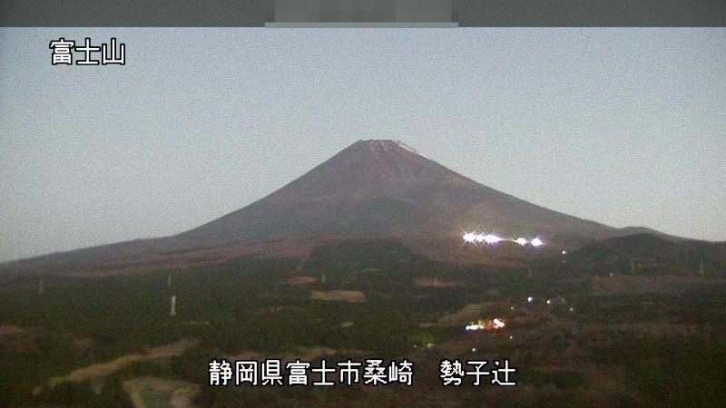 勢子辻から見た富士山