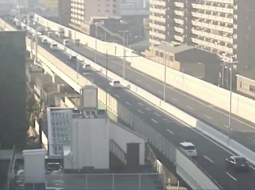 阪神高速14号松原線-阿倍野付近