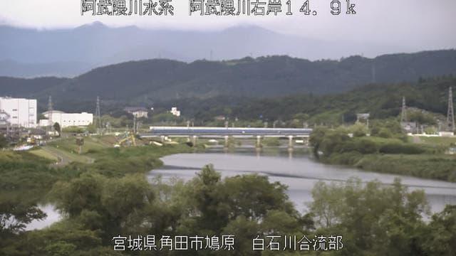 阿武隈川-白石川合流地点