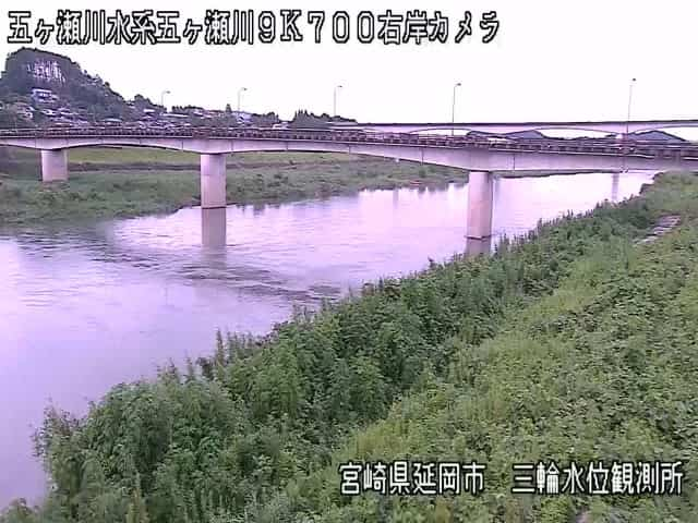 五ヶ瀬川-三輪水位観測所付近