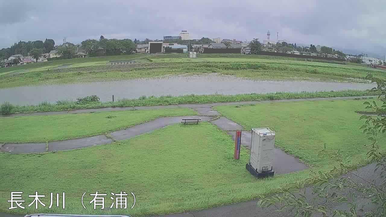 長木川-有浦水位観測所付近