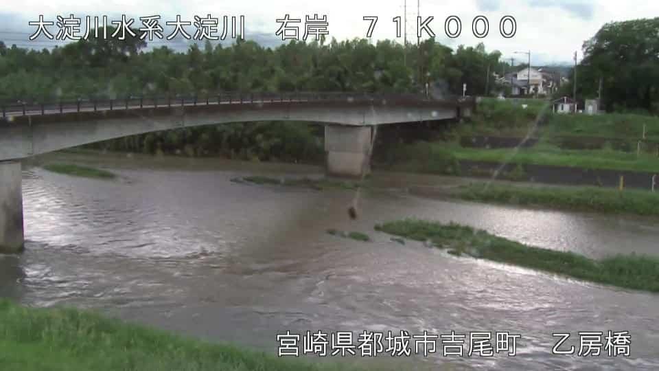 大淀川-乙房橋付近