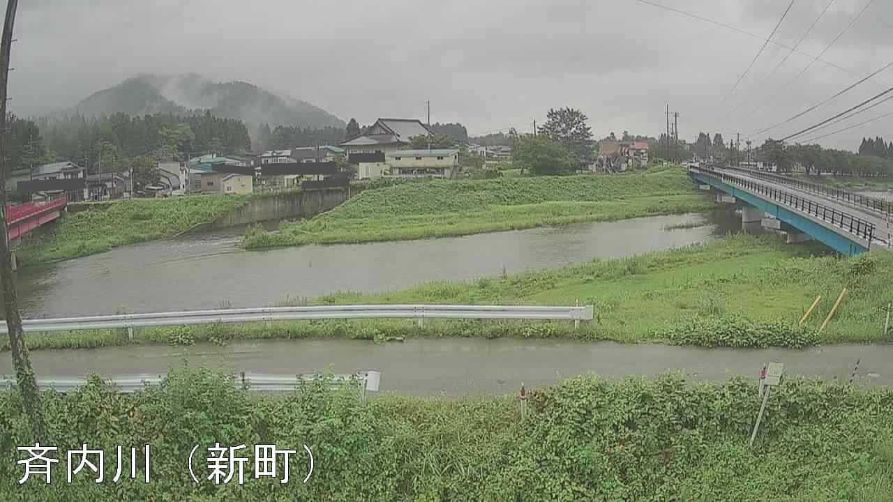 斉内川-上長野橋付近