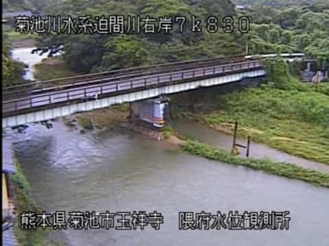 迫間川-隈府水位観測所付近