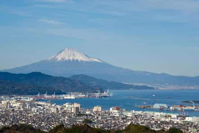 日本平夢テラスからみた駿河湾と富士山